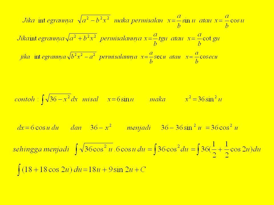 2.Integral substitusi trigonometri
