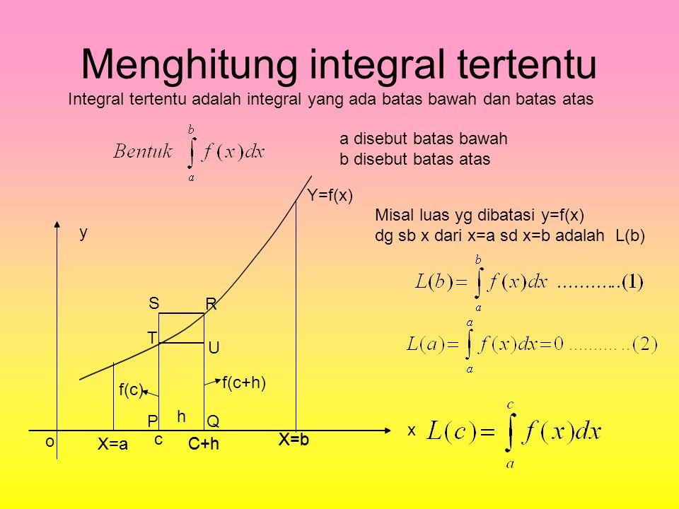 Contoh soal y x Tentukan bentuk integral yang sesuai dengan daerah yang diarsir o6