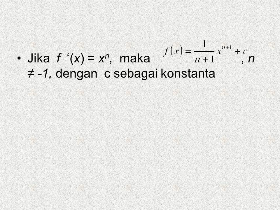 Integral tertentu adalah integral dari suatu fungsi yang nilai-nilai variabel bebasnya (memiliki batas-batas) tertentu.