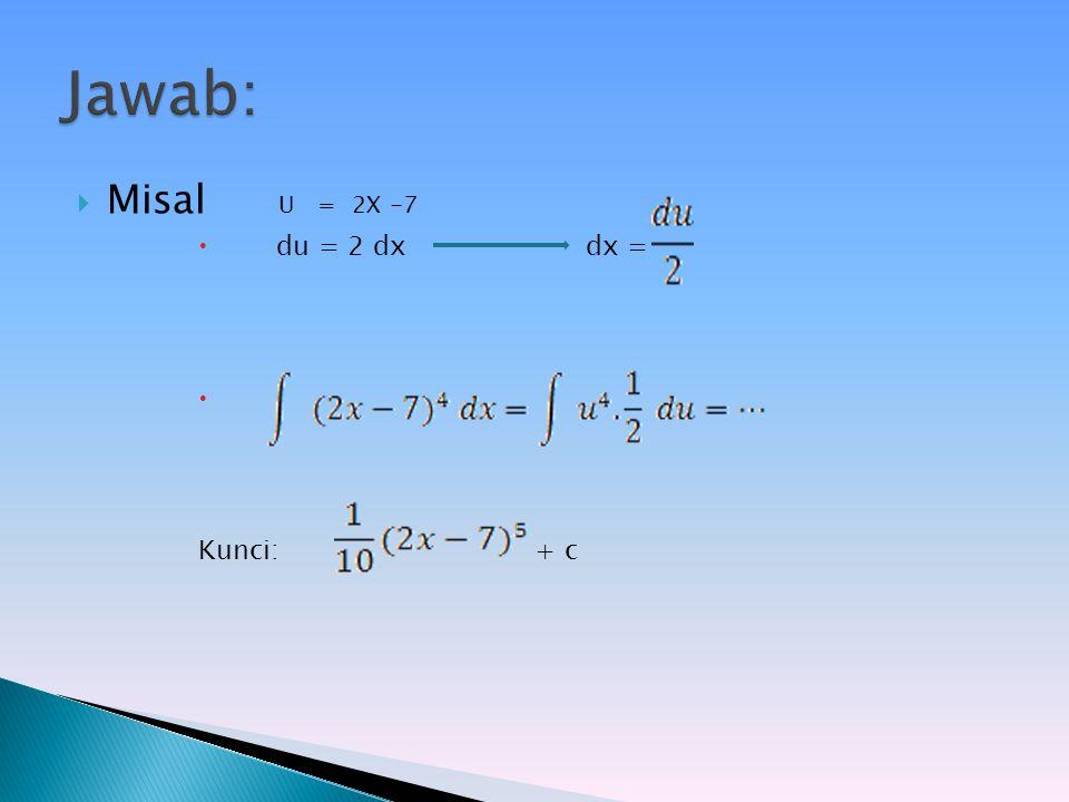 Tentukan hasil integral- integral berikut! a.