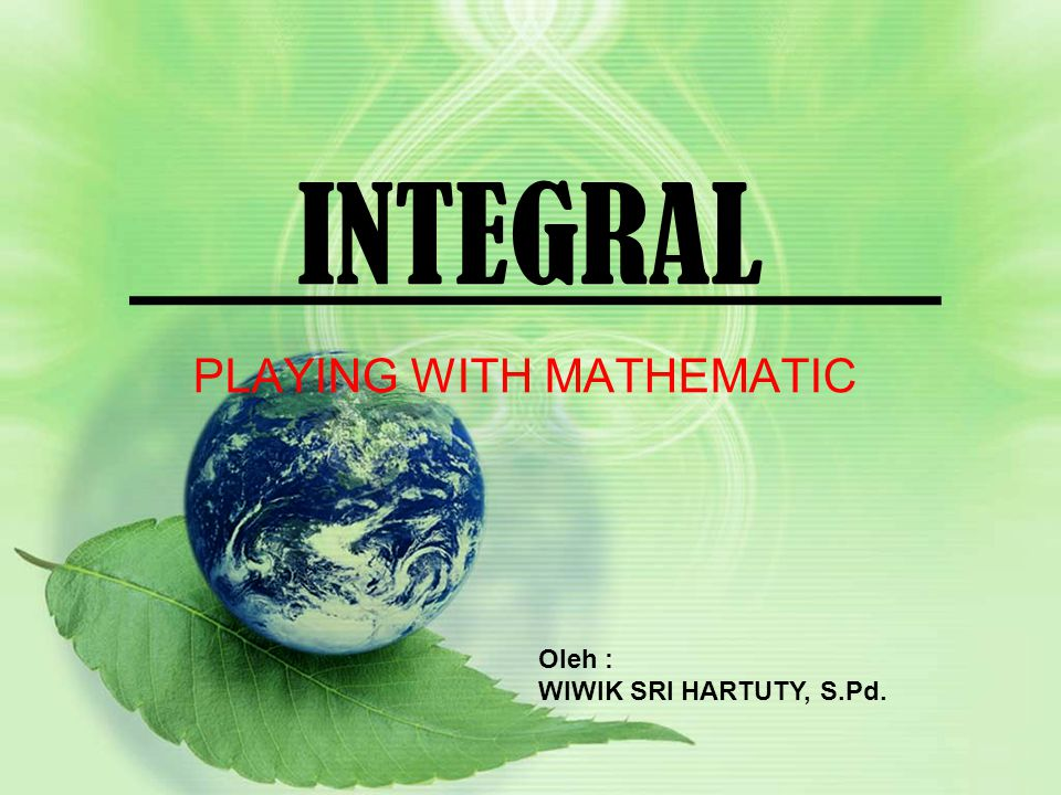 INTEGRAL METODE : TIM GAME TURNAMEN (TGT) CLEAN YOUR DESK SAVE OUR WORLD KEEP OUR ENVIRONMENT