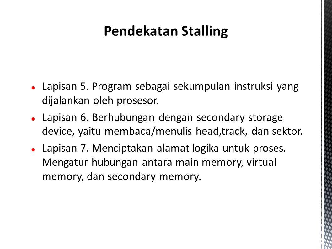 Lapisan 5. Program sebagai sekumpulan instruksi yang dijalankan oleh prosesor.