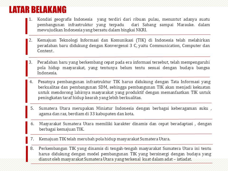 1.Kondisi geografis Indonesia yang terdiri dari ribuan pulau, menuntut adanya suatu pembangunan infrastruktur yang terpadu dari Sabang sampai Marauke.