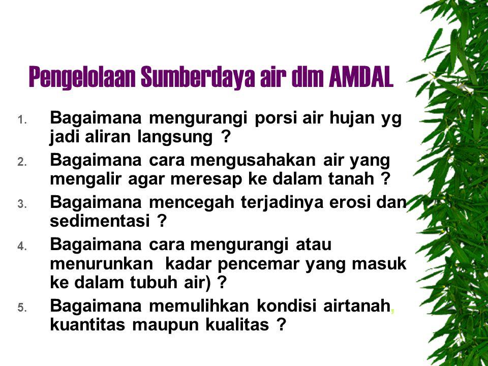 Pengelolaan Sumberdaya air dlm AMDAL 1.