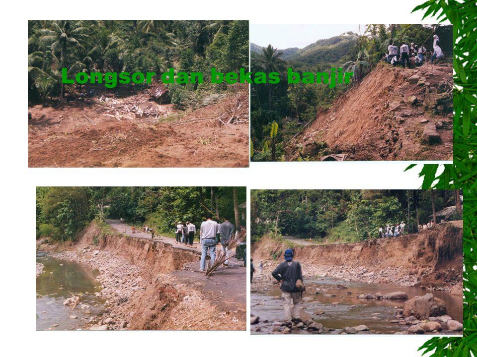 Longsor dan bekas banjir