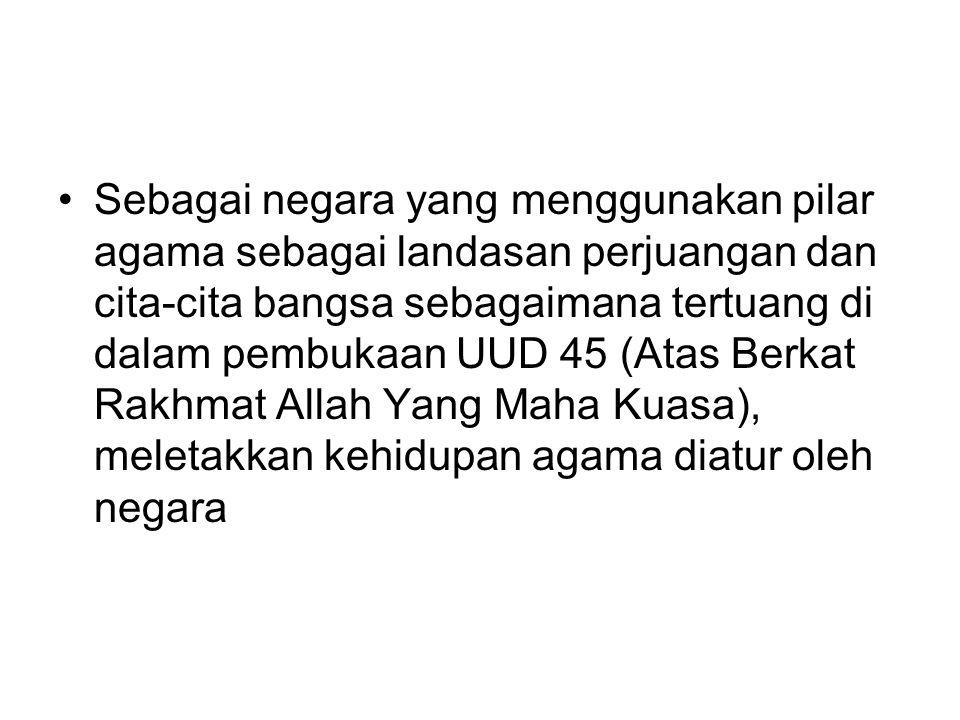 AGAMA SUBSTANSIAL keyakinan agama merupakan ruh bagi setiap bangsa Indonesia dalam membangun bangsa dan negara ini.