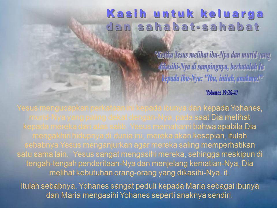 Yesus mengatakan hal itu kepada pencuri yang bertobat yang disalibkan di sebelahnya. Kisah nyata berikut ini menyatakan pengaruh dari perkataan Yesus