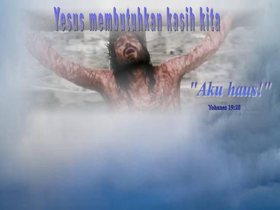 Yesus mengucapkan perkataan ini kepada ibunya dan kepada Yohanes, murid-Nya yang paling dekat dengan-Nya, pada saat Dia melihat kepada mereka dari ata