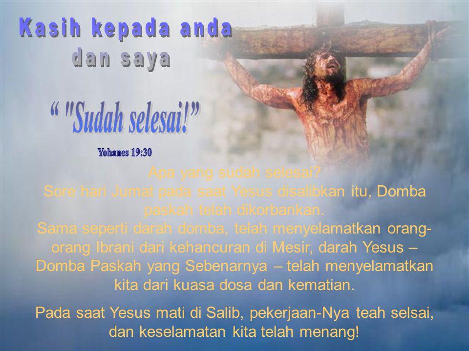 """""""Yang menyebabkan Yesus mengalami penderitaan yang sangat berat di salib, bukanlah dosa-dosa kita, sebab Dia tahu bahwa kita akan diampuni dan akan di"""