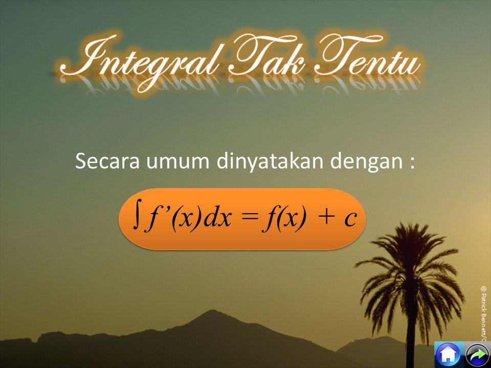 f(x)∫f(x) dx xnxn x n+1 n+1 1 x+C aax+C sin x-cos x+C cos xsin x + C sec 2 xtan x + C exex e x +C axax a x ln a + C 1 ln x + C x