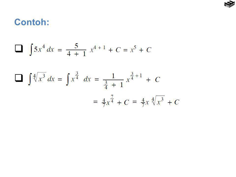 MENGHITUNG INTEGRAL TENTU Teorema Dasar Integral Kalkulus Notasi Kurung Siku  a, b : Batas bawah dan batas atas pengintegralan.