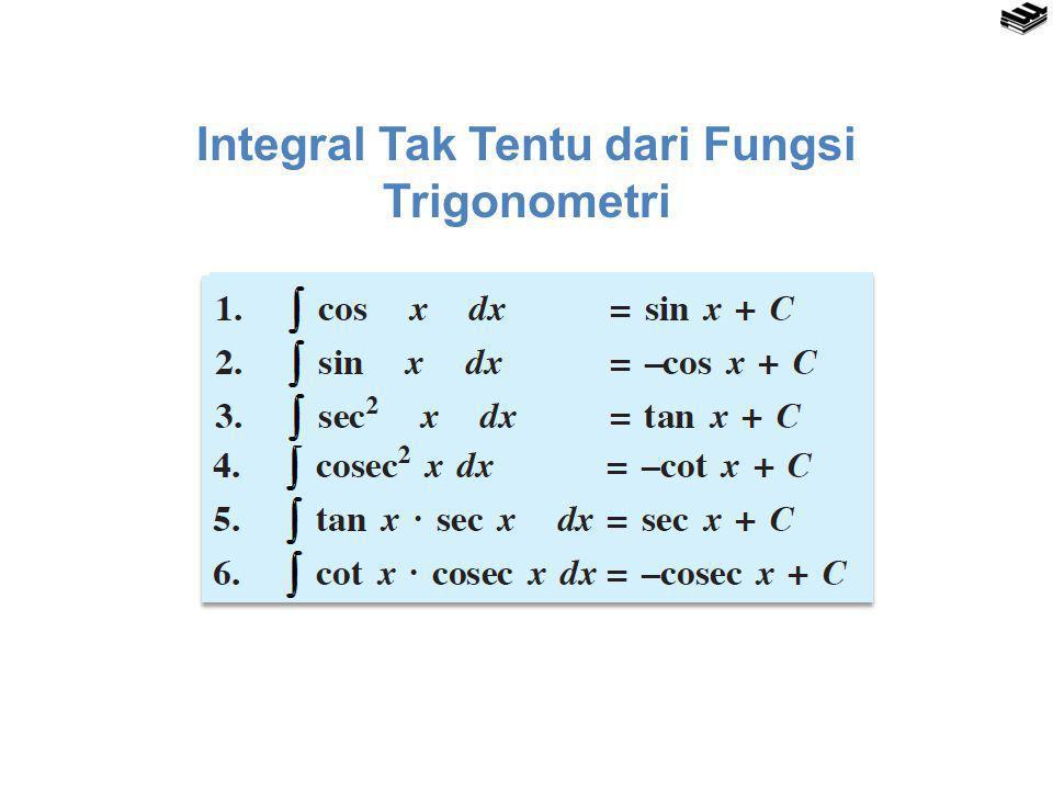 Integral Tak Tentu dari Fungsi Trigonometri dalam Variabel Sudut ( ax + b)