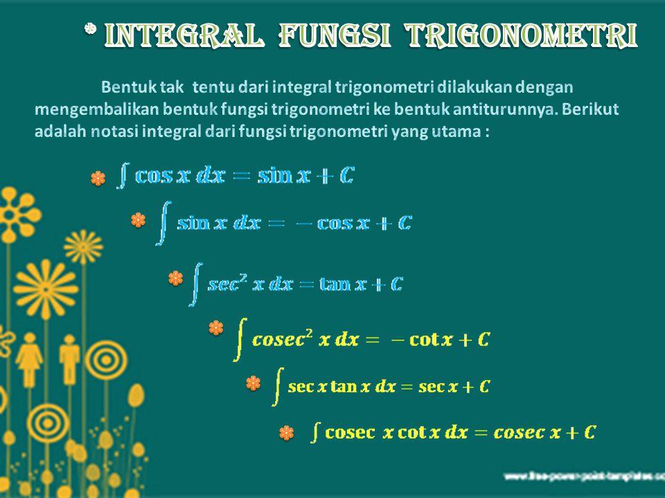 Bentuk integral tentu dapat dikatakan sebagai luas daerah yang dibatasi kurva.