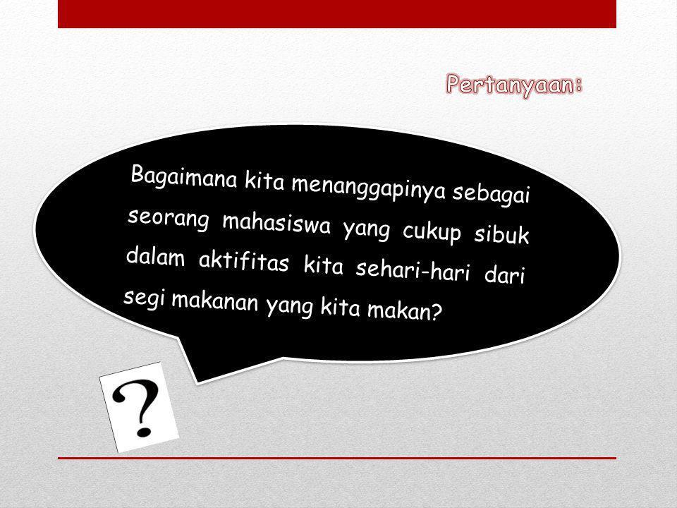 Jawaban: Kita sebagai mahasiswa tentu orang yang cerdas dan berpikir, tentu kita mengetahui bahwa yang instan itu tidak baik.