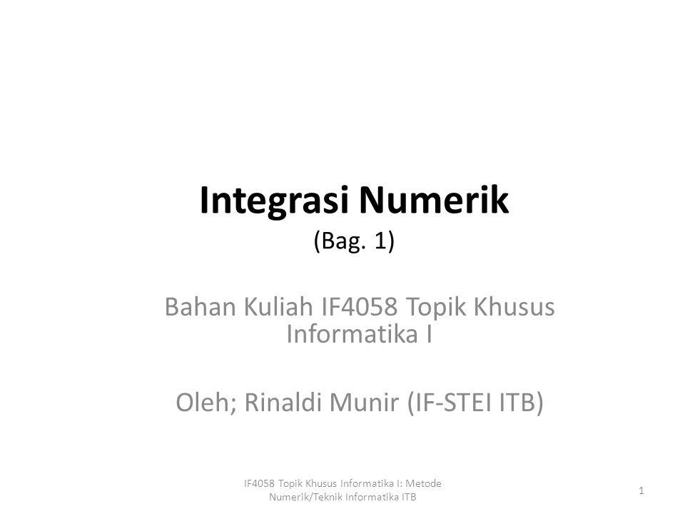 Integrasi Numerik (Bag.