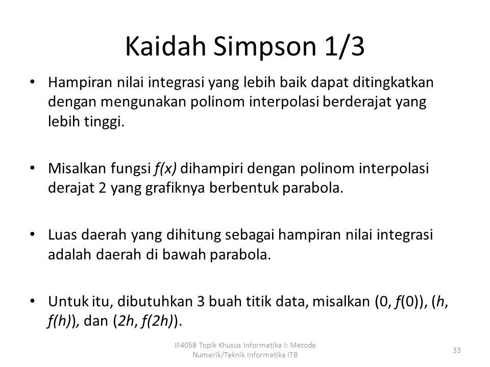 IF4058 Topik Khusus Informatika I: Metode Numerik/Teknik Informatika ITB 34