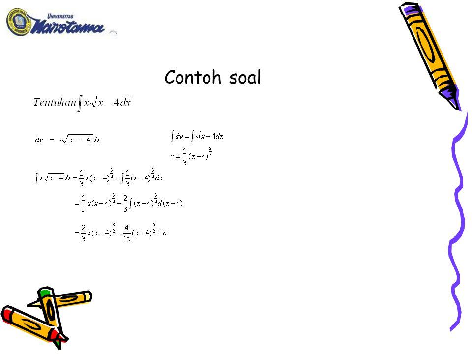 JENIS INTEGRAL  INTEGRAL TAK TENTU apabila ∫f(x).dx disebut integral tak tentu yang merupakan fungsi F(x)+c yang turunannya = F'(x)=f(x).