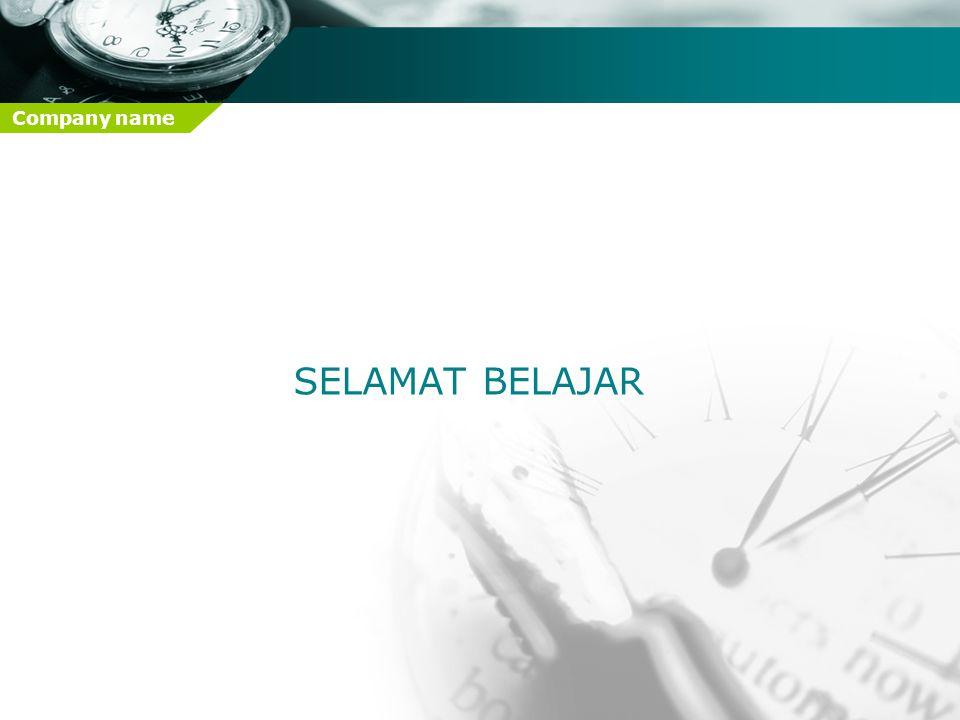 Company name SELAMAT BELAJAR