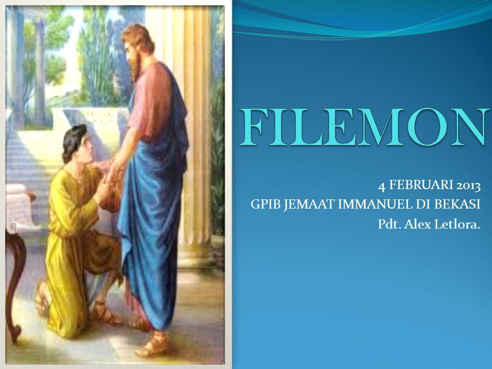 Kesimpulan Surat Filemon ini dibuat dalam suasana kekeluargaan.