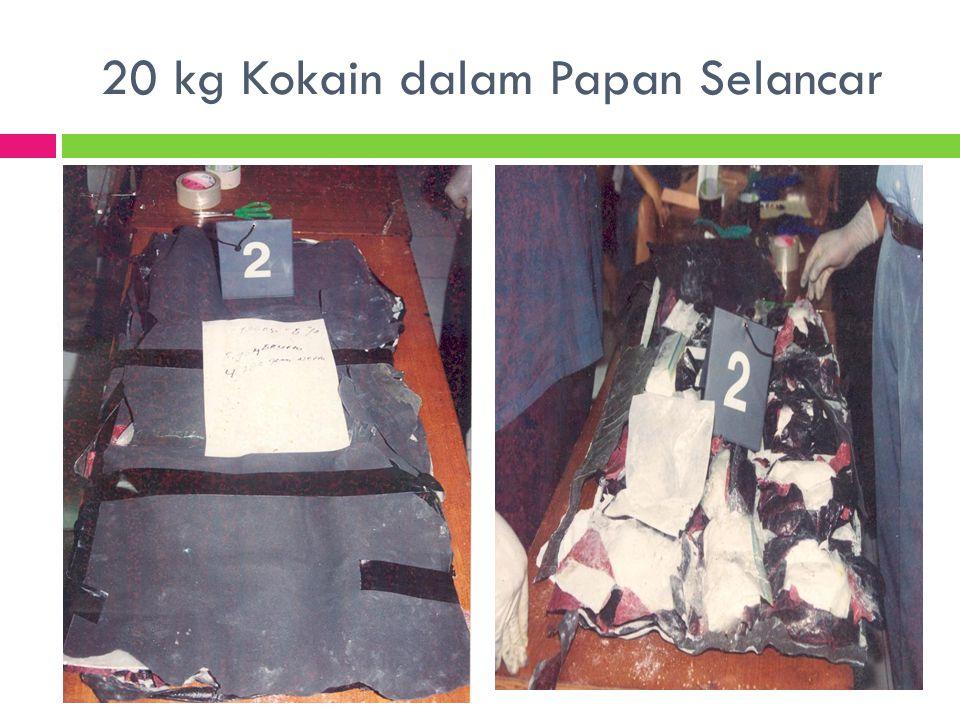 20 kg Kokain dalam Papan Selancar