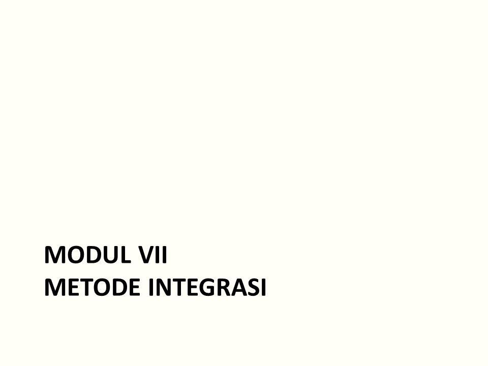MODUL VII METODE INTEGRASI