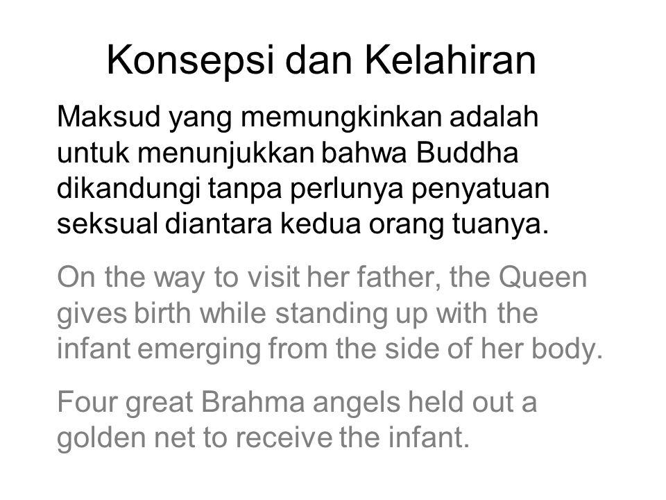 Konsepsi dan Kelahiran Maksud yang memungkinkan adalah untuk menunjukkan bahwa Buddha dikandungi tanpa perlunya penyatuan seksual diantara kedua orang