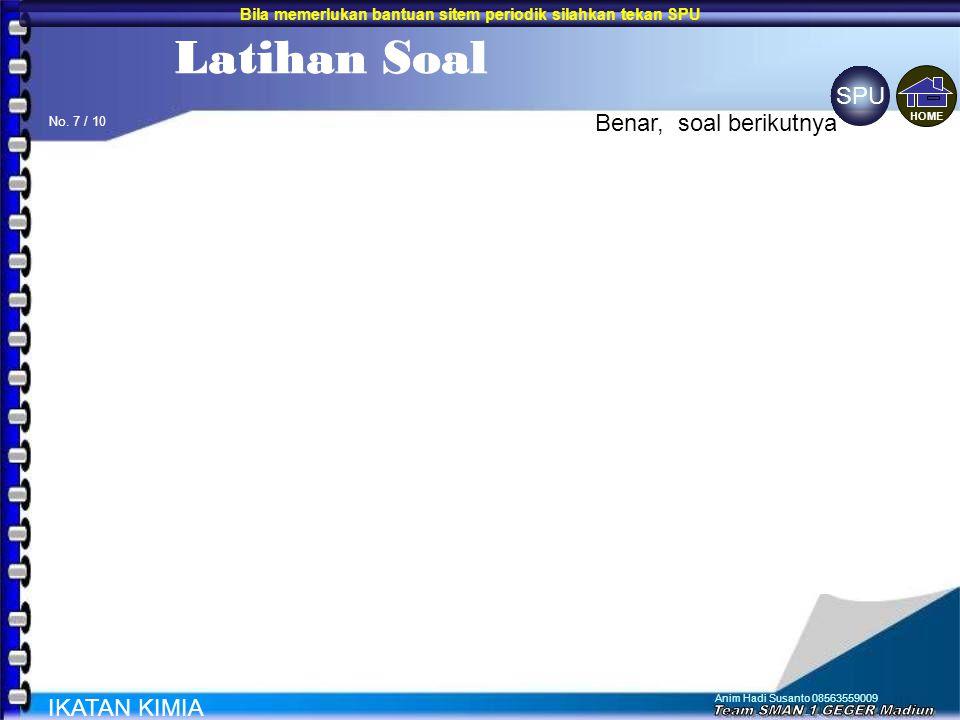 Anim Hadi Susanto 08563559009 6.Unsur X mempunyai konfigurasi elektron 2,8,8,2. Sedangkan unsur Y 2,8,18,7. Kalau kedua unsur membentuk senyawa rumusn