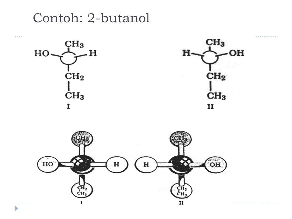 Contoh: 2-butanol