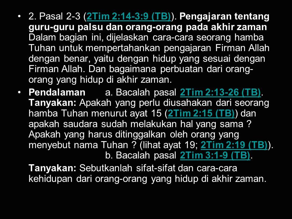 3.Pasal 3 (2Tim 3:10-17 (TB)).