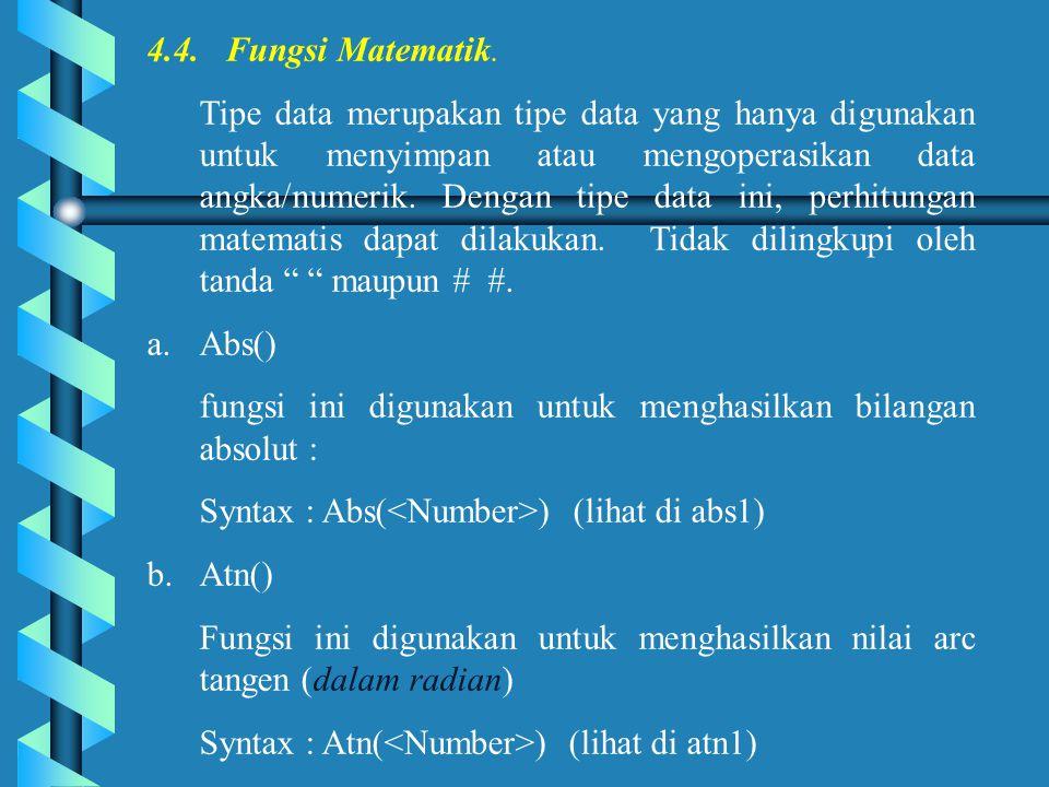 4.4.Fungsi Matematik.