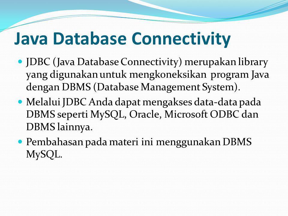 Studi Kasus BookShop Buat database dengan nama dbBookShop Desain tabel-tabel seperti berikut : 1.