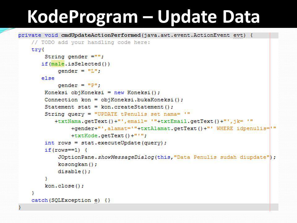 KodeProgram – Update Data