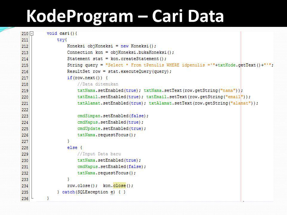 KodeProgram – Cari Data