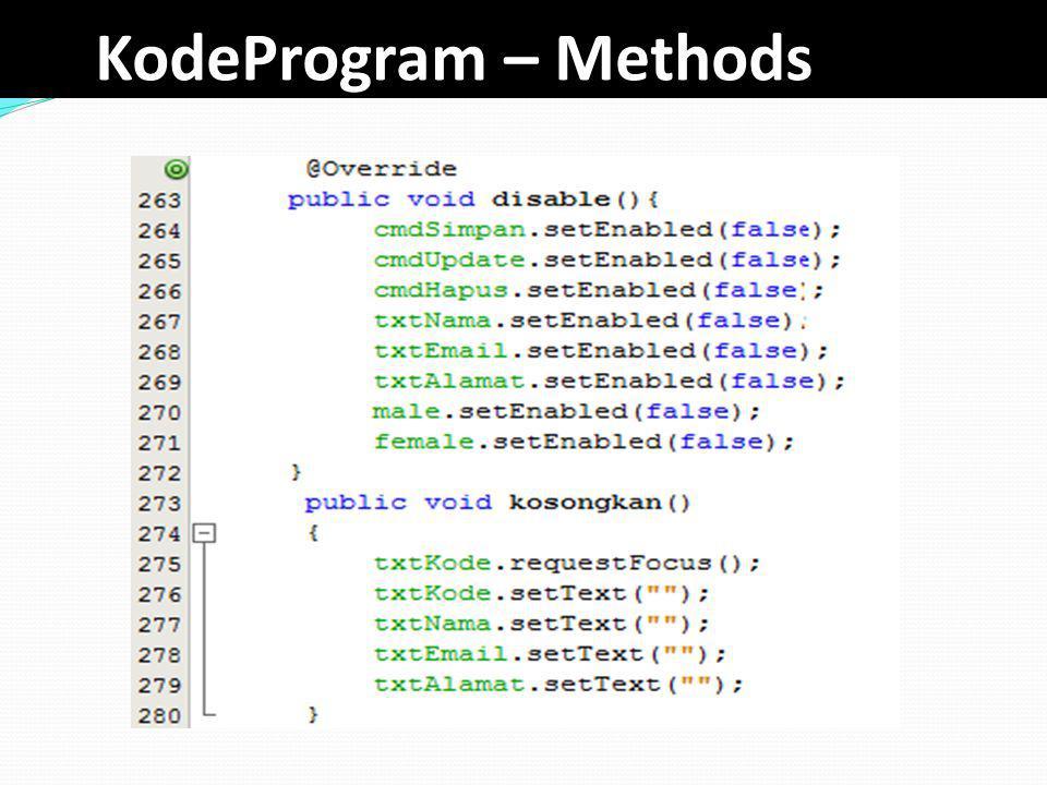KodeProgram – Methods