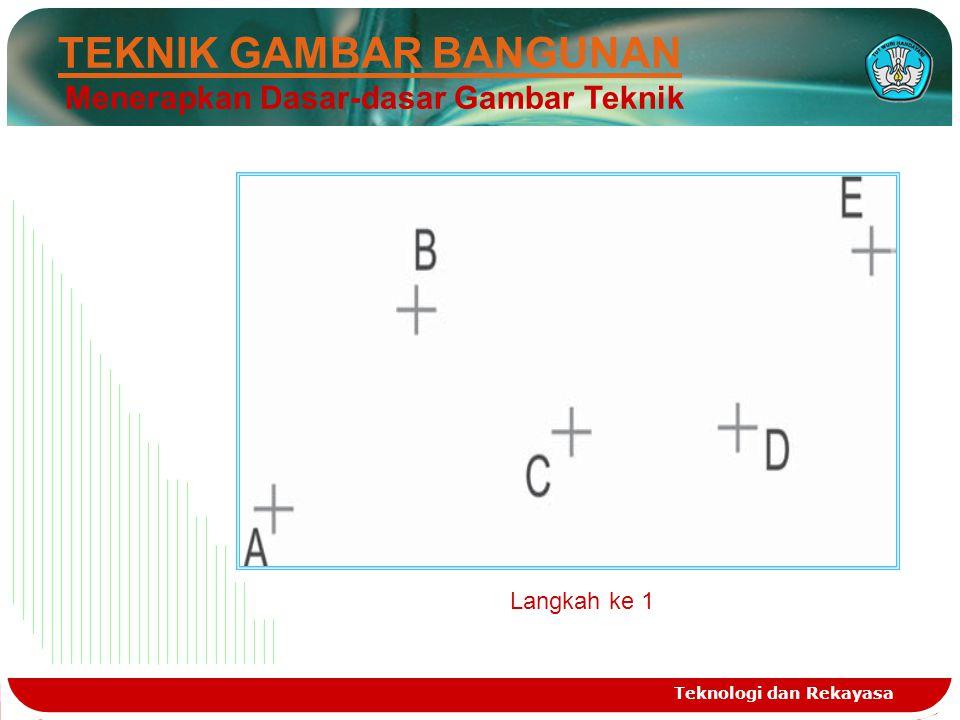 Teknologi dan Rekayasa TEKNIK GAMBAR BANGUNAN Menerapkan Dasar-dasar Gambar Teknik Langkah ke 1