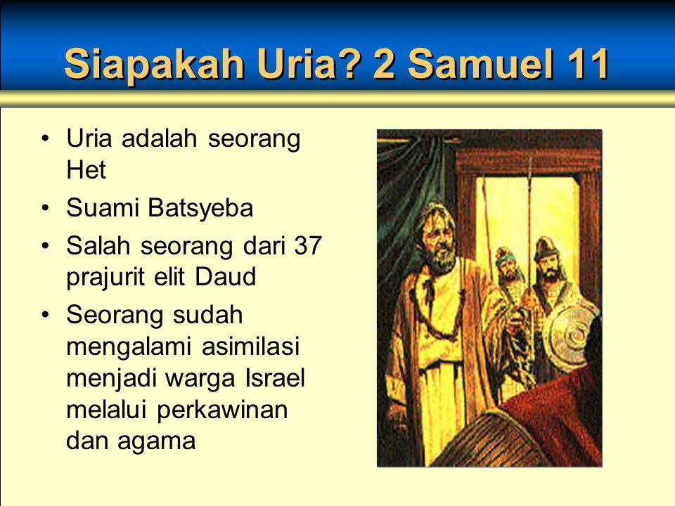 Siapakah Uria.