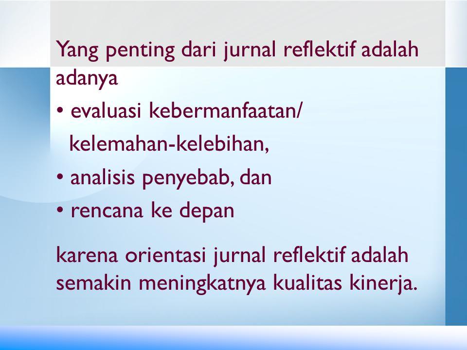 1.Lakukanlah kegiatan refleksi secara individual.