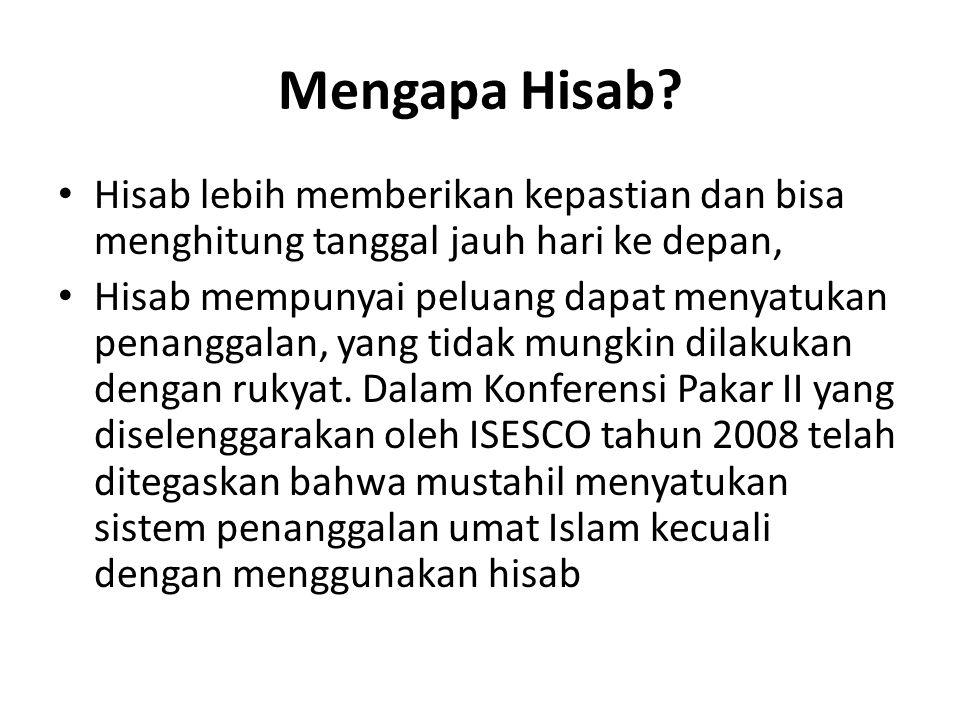 Mengapa Hisab.