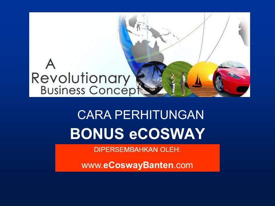 BONUS eCOSWAY CARA PERHITUNGAN DIPERSEMBAHKAN OLEH: www.eCoswayBanten.com