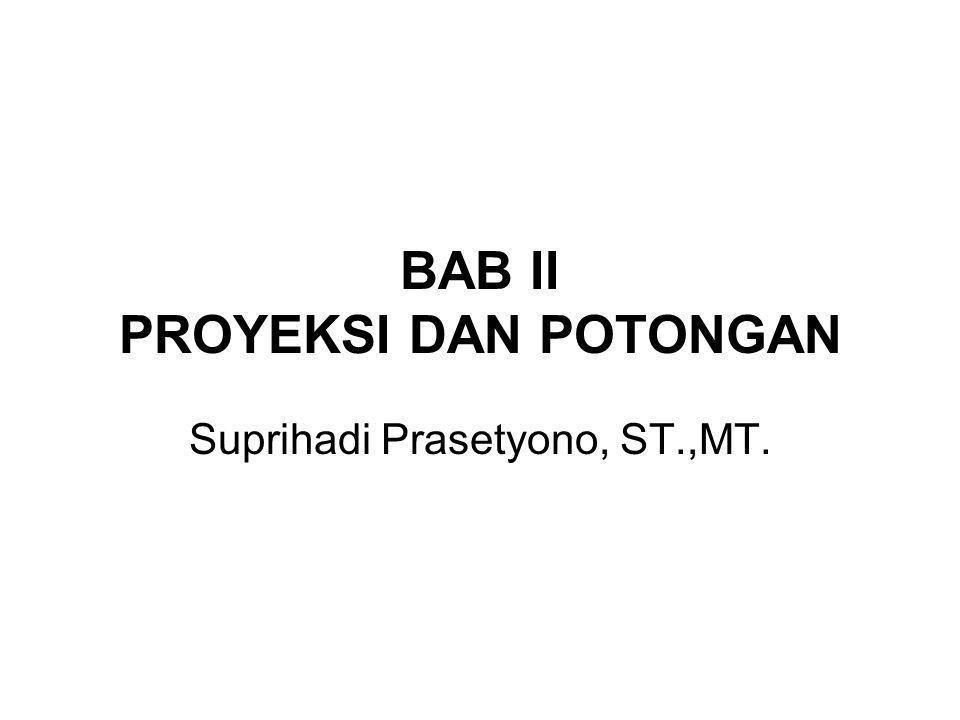 BAB II PROYEKSI DAN POTONGAN Suprihadi Prasetyono, ST.,MT.