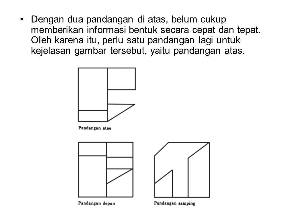 Dengan dua pandangan di atas, belum cukup memberikan informasi bentuk secara cepat dan tepat. OIeh karena itu, perlu satu pandangan lagi untuk kejelas