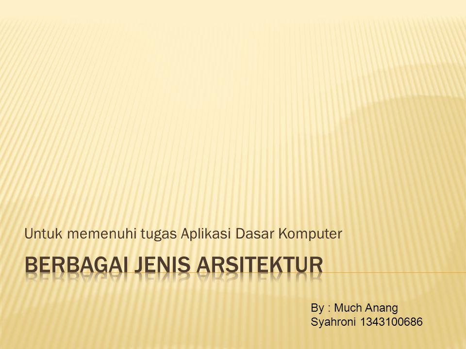 Untuk memenuhi tugas Aplikasi Dasar Komputer By : Much Anang Syahroni 1343100686