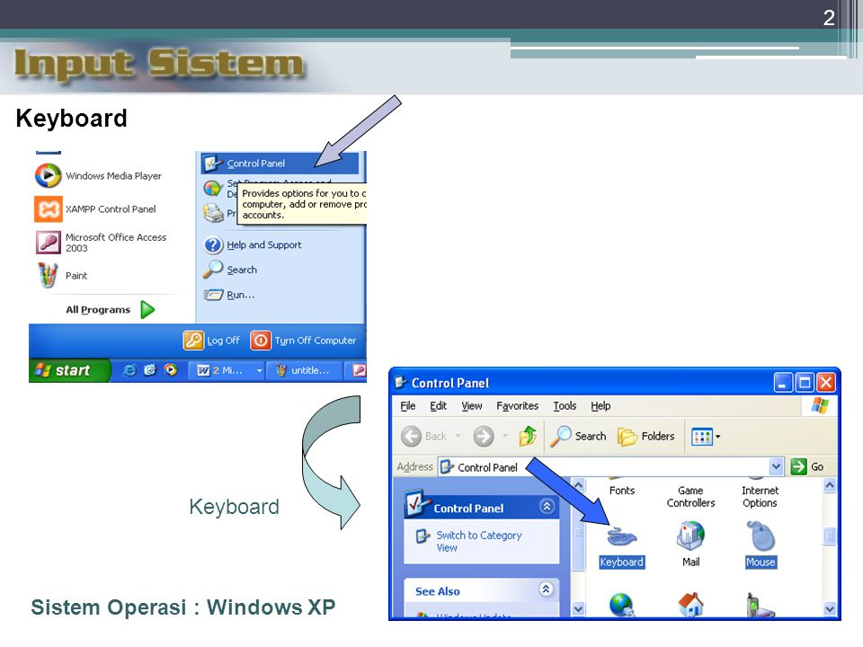 2 Keyboard Sistem Operasi : Windows XP Keyboard