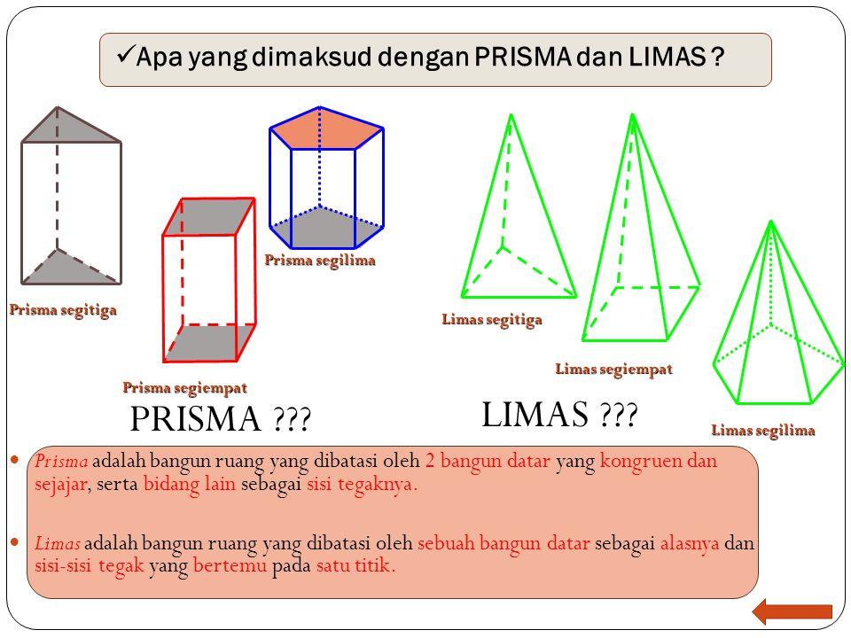 Nah sekarang ketika kalian benar-benar paham dengan apa yang dimaksud dengan kubus dan prisma yang ibuk maksud maka sekarang mari ibuk jelaskan penger