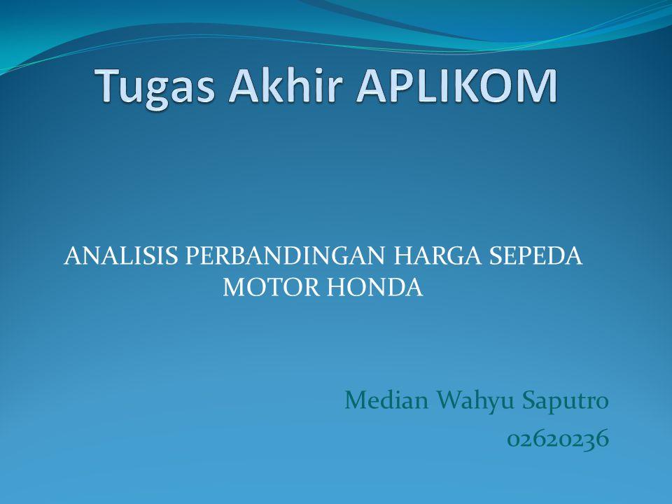 Latar belakang Jumlah penduduk yang terus berkembang di Indonesia membuat terbukanya peluang pasar - pasar baru untuk industri otomotif.