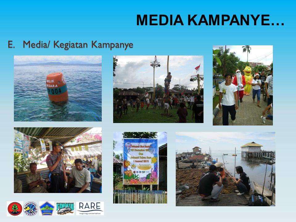 MEDIA KAMPANYE… E. Media/ Kegiatan Kampanye