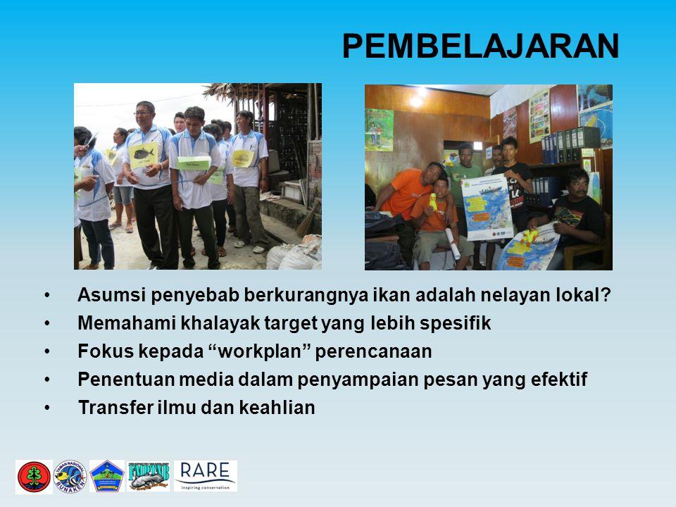 PEMBELAJARAN Asumsi penyebab berkurangnya ikan adalah nelayan lokal.