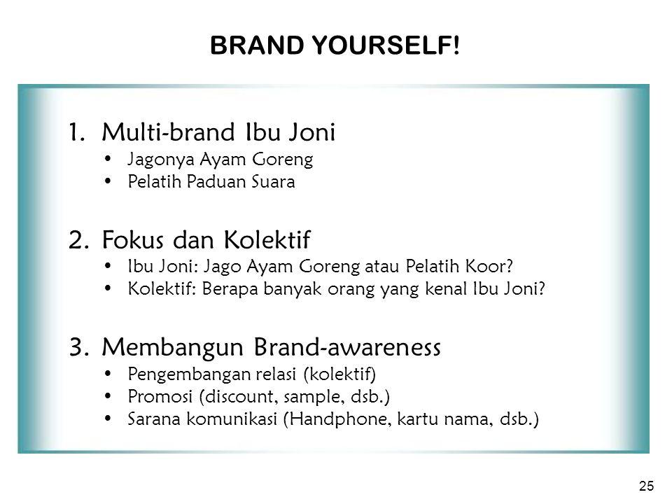 25 1. Multi-brand Ibu Joni Jagonya Ayam Goreng Pelatih Paduan Suara 2.