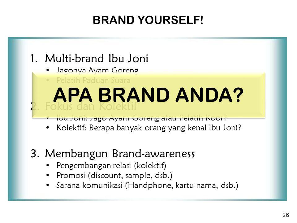 26 1. Multi-brand Ibu Joni Jagonya Ayam Goreng Pelatih Paduan Suara 2.