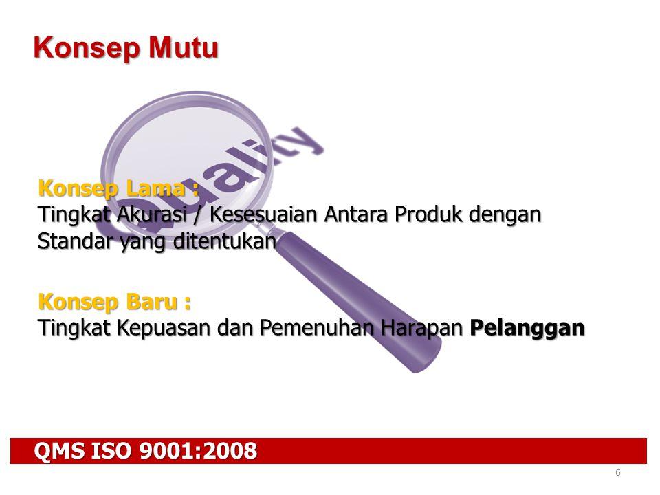 QMS ISO 9001:2008 47 Persyaratan ISO 9001:2008 7.